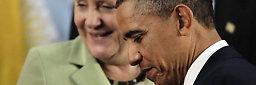 Obama oppmuntret etter møtet med Merkel